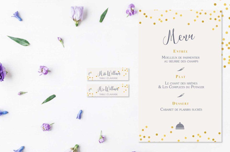 Les menus & nominettes